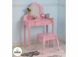 Medium Diva Table and Stool - Pink - KidKraft Furniture - 13023
