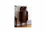 Medium Mahogany Jewelry Armoire - Holly and Martin