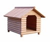 Medium Size Log Home Cedar Brown Wood Pet House - Merry Products - EM001-H