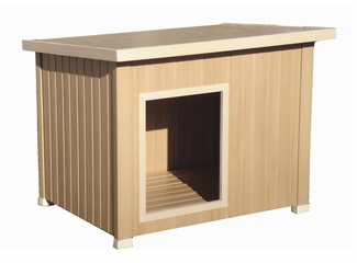 Medium Size Rustic Lodge Style Dog House in Natural Cedar - NewAgeGarden - ECOH201M