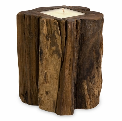 Medium Teakwood Candle - IMAX - 51367