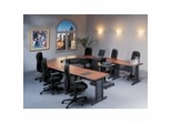 Meeting Plus in Mahogany by Mayline Office Furniture