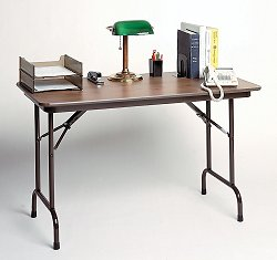 "Melamine Keyboard Height Folding Table 24"" x 36"" - Correll Office Furniture - CF2436MK"
