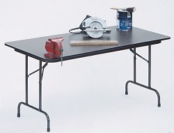 "Melamine Top Folding Table 30"" x 60"" - Correll Office Furniture - CF3060M"