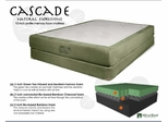 "Memory Foam Mattress - 10"" Cascade Queen Size Mattress - SilverRest - SRMCASMEM-50"