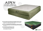 "Memory Foam Mattress - 8"" Aspen Queen Size Mattress - SilverRest - SRMASPMEM-50"