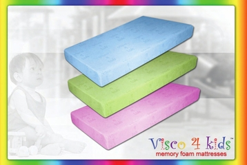 Memory Foam Mattress - Visco 4 Kids Twin Size Green Mattress - SilverRest - SRMVKGMEM-30