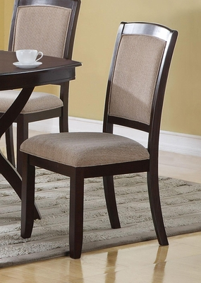 Memphis Cappuccino Side Chair - Set of 2 - 102752