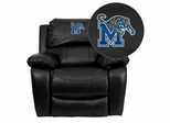 Memphis Tigers Rocker Recliner - MEN-DA3439-91-BK-40003-EMB-GG