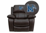 Memphis Tigers Rocker Recliner - MEN-DA3439-91-BRN-40003-EMB-GG