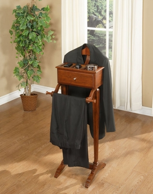 Men's Valet - Marquis Cherry - Powell Furniture - 508-386