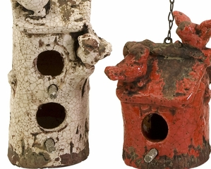 Mercade Birdhouses (Set of 4) - IMAX - 40131-4