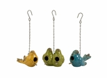 Mercade Ceramic Bird Houses (Set of 3) - IMAX - 40093-3