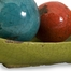 Mercade Decorative Ceramic Balls in Tray (Set of 4) - IMAX - 40176-4