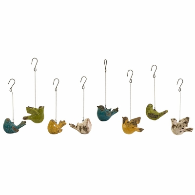 Mercade Small Assorted Birds - Set of 8 - IMAX - 40156-8