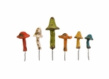 Mercade Small Mushroom Garden Stakes (Set of 6) - IMAX - 40097-6