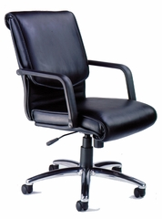 Mercado Alliance Leather Chair - Mayline Office Furniture - ALBLK
