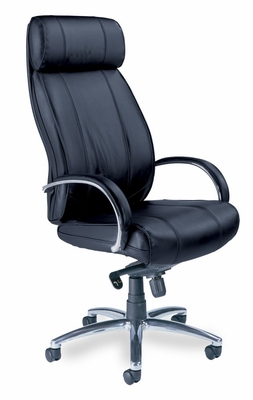 Mercado Optima High Back Leather Chair - Mayline Office Furniture - OPHBLK