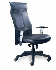 Mercado Silhouette Leather Chair - Mayline Office Furniture - SSBLK