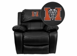 Mercer University Bears Black Leather Rocker Recliner - MEN-DA3439-91-BK-45015-EMB-GG