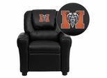 Mercer University Bears Embroidered Black Vinyl Kids Recliner - DG-ULT-KID-BK-45015-EMB-GG