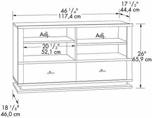 Meretto Panel Universal TV Stand Ebony Ash - Sauder Furniture - 402414
