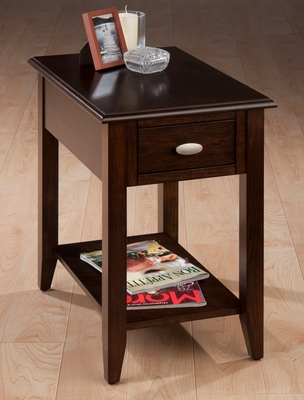 Merlot Rectangular Chairside Table - 1030-7