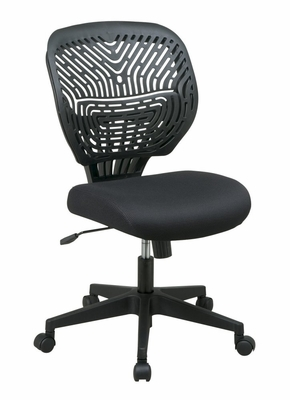 Mesh and Ventilated Chair with SpaceFlex Back - SPACE SPINN Series - Office Star - 169-33BN8