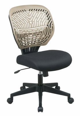 Mesh and Ventilated Chair with SpaceFlex Back - SPACE SPINN Series - Office Star - 169-38BN8
