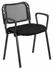 Mesh Screen Back Stack Chair - EU-65-BK-A-GG