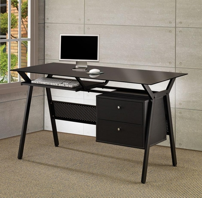 Metal and Glass Computer Desk - 800436