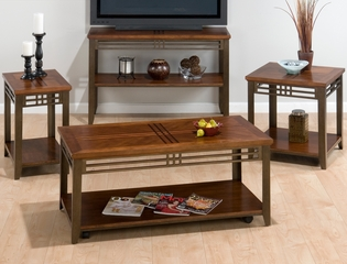 Metal and Wood 4PC Accent Table Set - 536-1