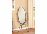 Metal Cheval Mirror in Pewter - 900531