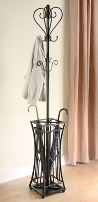 Metal Coat Rack in Black - 900817