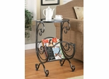 Metal & Glass Side Table - 700401