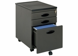 Metal Mobile File Cabinet Pewter / Black - Sauder Furniture - 18578