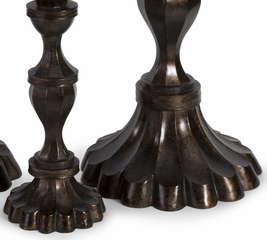 Metallic Candleholder Trio (Set of 3) - IMAX - 13414-3