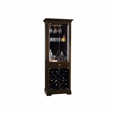 Metropolis Wine and Bar Cabinet - Black Coffee Finish - Howard Miller