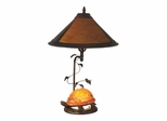 Mica Amber Orange Turtle Table Lamp - Dale Tiffany