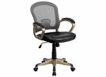 Mid-Back Black & Gray Mesh Office Chair - JQ-5040-GG