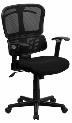 Mid-Back Black Mesh Chair - A-7741-BK-GG