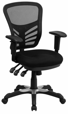 Mid-Back Black Mesh Chair - HL-0001-GG
