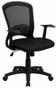 Mid-Back Black Mesh Chair - HL-0007-GG