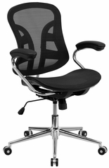 Mid-Back Black Mesh Computer Chair - BT-2779-GG