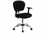 Mid-Back Black Mesh Task Chair - H-2376-F-BK-ARMS-GG