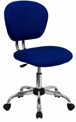 Mid-Back Blue Mesh Task Chair - H-2376-F-BLUE-GG