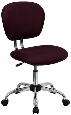 Mid-Back Burgundy Mesh Task Chair - H-2376-F-BY-GG