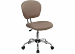 Mid-Back Coffee Brown Mesh Task Chair - H-2376-F-COF-GG