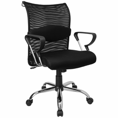 Mid Back Contemporary Mesh Ventilated Chair - BT-2905-GG