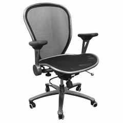 Mid Back Contemporary Mesh Ventilated Chair - CP-B078-2-MTLK-GG
